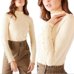 NWT! Free People Hooked On You Cuff Long Sleeve
